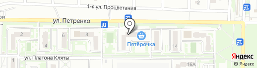 Разносолыч на карте Ростова-на-Дону