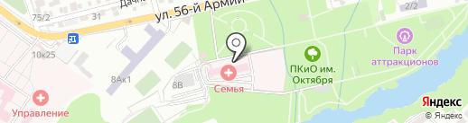 Клиника доктора Прокудина на карте Ростова-на-Дону