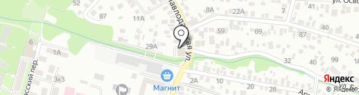 Техзона на карте Ростова-на-Дону