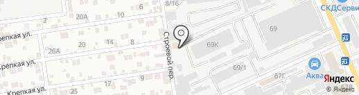 Карусель на карте Ростова-на-Дону