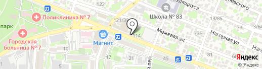 Студия красоты на карте Ростова-на-Дону