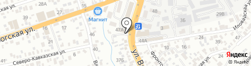 Армгрупп на карте Ростова-на-Дону
