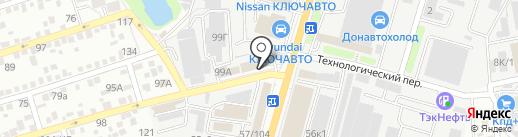 Униформа-Юг на карте Ростова-на-Дону