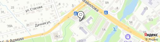 Сауна на Дачной на карте Ростова-на-Дону
