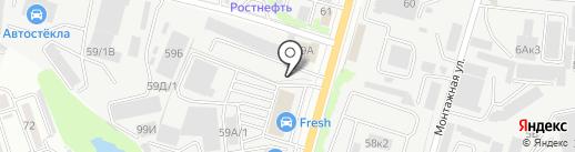 Авалон на карте Ростова-на-Дону