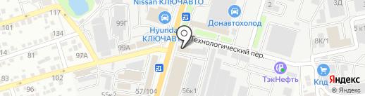 Диол на карте Ростова-на-Дону