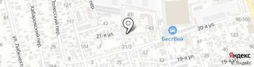 Финик на карте Ростова-на-Дону