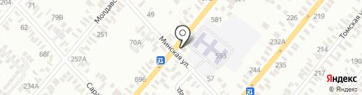 Москва на карте Батайска