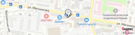 Книжкин дом на карте Ростова-на-Дону