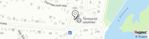 Церковь Троицы Живоначальной на карте Липецка