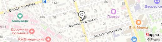 Орхидея на карте Ростова-на-Дону