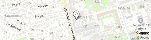 Центральный на карте Ростова-на-Дону