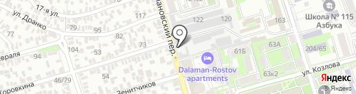 Продовольственный магазин на карте Ростова-на-Дону