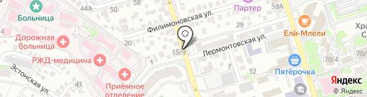 Искусство красоты на карте Ростова-на-Дону