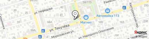 Донорешек на карте Ростова-на-Дону