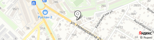 Дельфин на карте Ростова-на-Дону