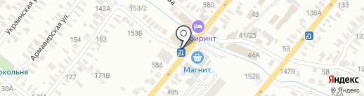 Пятерочка на карте Батайска