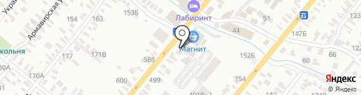 Цветочный магазин на карте Батайска
