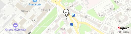 Кружка на карте Рязани