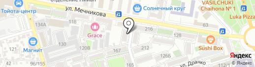 Кружка спорта на карте Ростова-на-Дону