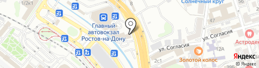 Комфорт-Сервис на карте Ростова-на-Дону