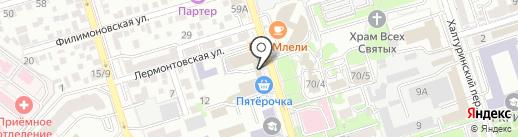 Магазин женской одежды и пальто на карте Ростова-на-Дону