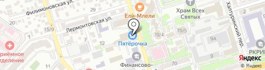 Нежное кружево на карте Ростова-на-Дону