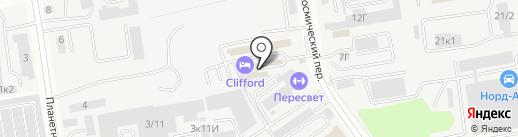 Прометком на карте Ростова-на-Дону
