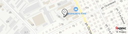 Рязанский инструментальный абразивный завод на карте Рязани