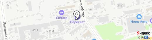 Пересвет на карте Ростова-на-Дону