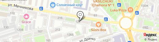 Главная экспертная служба Ростовской области на карте Ростова-на-Дону
