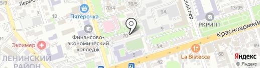 Седла на карте Ростова-на-Дону