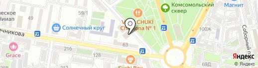 Новатор-Юг на карте Ростова-на-Дону