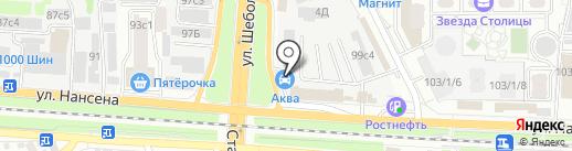 Аква на карте Ростова-на-Дону