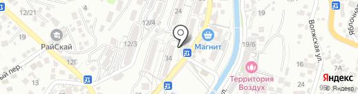 Сеть продуктовых магазинов на карте Сочи