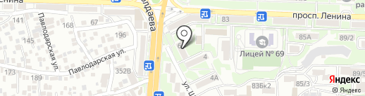 Алеанна на карте Ростова-на-Дону