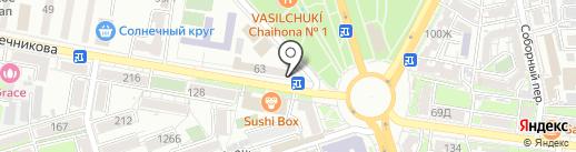 Хмельной на карте Ростова-на-Дону