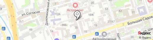 Магазин свежей выпечки на карте Ростова-на-Дону