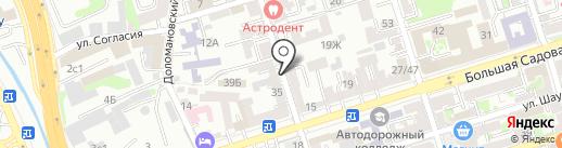 Меридиан-инвест на карте Ростова-на-Дону