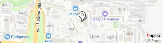 Булат на карте Ростова-на-Дону