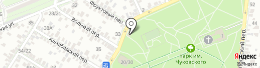 Рыбус на карте Ростова-на-Дону