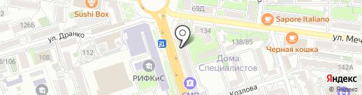 Ломбард трио на карте Ростова-на-Дону