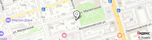 Белый Бим на карте Ростова-на-Дону
