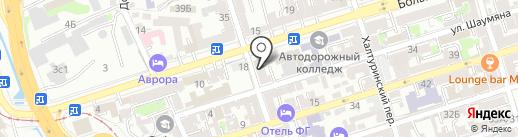 Люди дела на карте Ростова-на-Дону