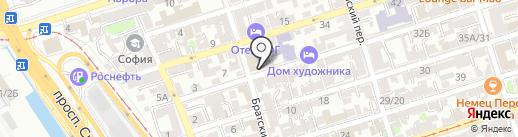 Лекс на карте Ростова-на-Дону