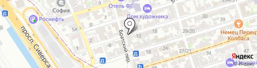 Мая на карте Ростова-на-Дону