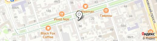 Современник на карте Ростова-на-Дону