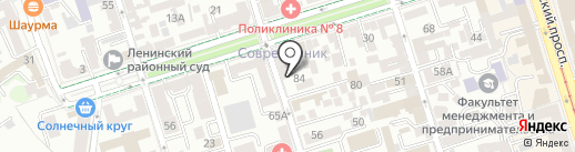 Прецедент на карте Ростова-на-Дону