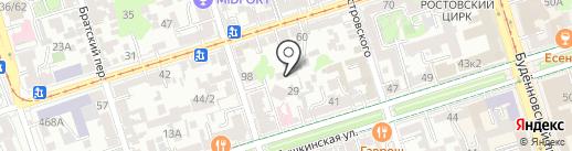 Родина на карте Ростова-на-Дону