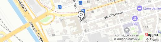 Служба аварийных коммисаров некоммерческая организация в области дорожного движения, АНО на карте Ростова-на-Дону